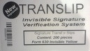 Invisible Signature Verification System